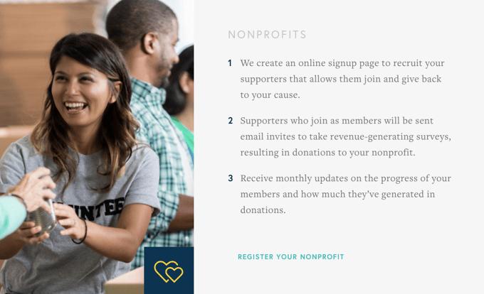 Opinions4Good website Nonprofit Registration Steps
